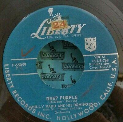 Billy Ward & His Dominoes Liberty 55099 DEEP PURPLE (GREAT DOO WOP 45) PLAYS - Purple Domino