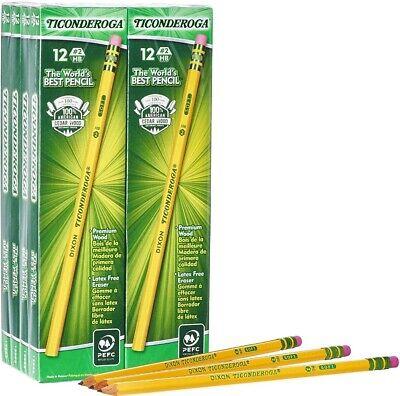 Ticonderoga Pencils Wood-cased Graphite 2 Hb Soft Yellow 96-pack 13872