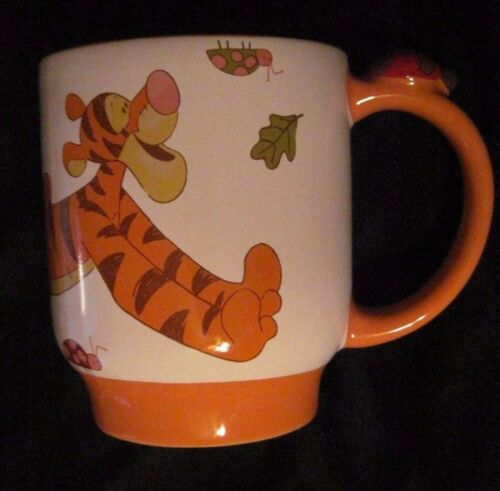 Disney Ceramic  Mug Tigger with Ladybug Excellent Condition