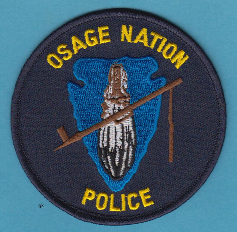 OSAGE NATION OKLAHOMA TRIBAL POLICE PATCH