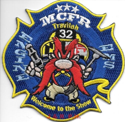 """Montgomery County  Engine - 32 """"Travilah"""", Maryland (4"""" x 4"""" size) fire patch"""