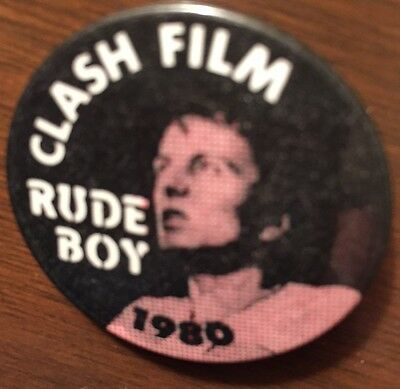 CLASH FILM - RUDE BOY 1980 - PROMOTIONAL PIN - REDUCED PRICE