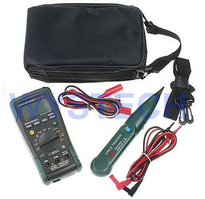 Mastech Ms8236 2 In 1 Digital Multimeter Dmm Network Cable Wire Track Tester