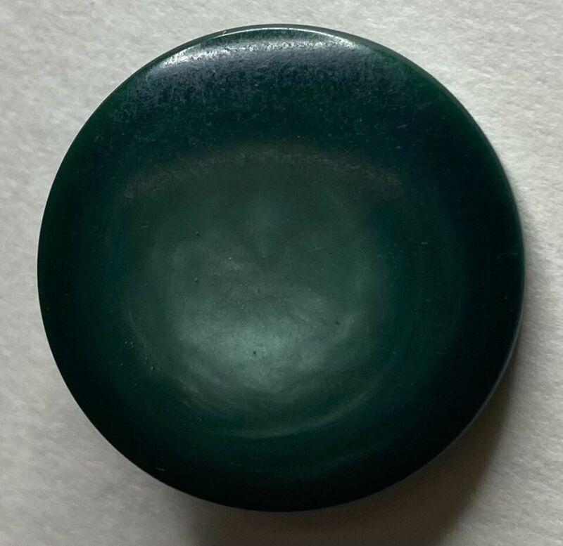 """Vegetable ivory tagua nut button green iridescent art deco vintage 7/8"""""""