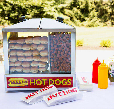 New Avantco 200 Hot Dog Steamer 48 Bun 120v Commercial Concession Warmer Stand