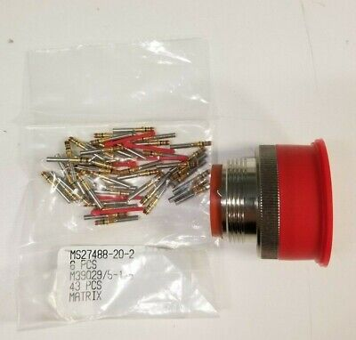 Mtx Circular Mil-spec Connector Plug With Pins Ms3476l20-41s