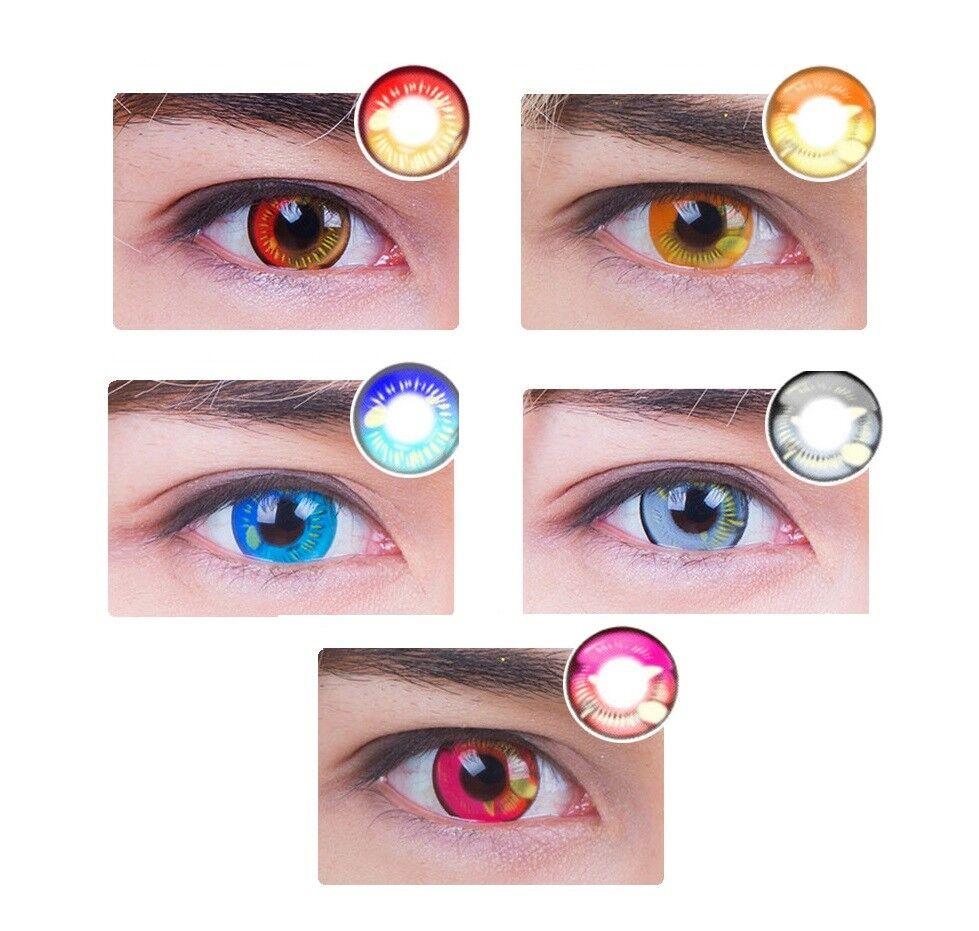 Farbige Kontaktlinsen HEROES OF COSPLAY COMIC ANIME ausdrucksstark