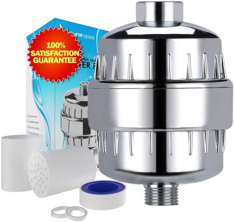 Shower Water Filter with Cyclone Filtration - Improve Your Hair and Skin -