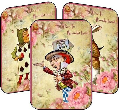 Alice in Wonderland Mad Hatter tea party 8 tent cards table party decoration - Mad Hatter Party
