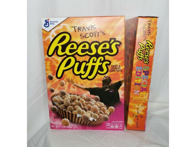 New Travis Scott's Reeses Puffs Cereal 11.5 Oz (2) Special Edition Cactus Jack