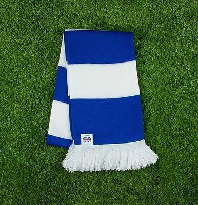 Huddersfield Town Colours Retro Bar Scarf - Blue & White - Made in UK