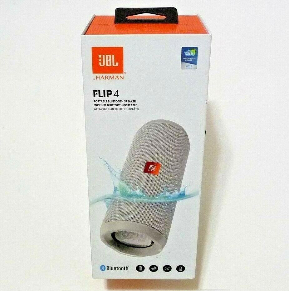 *NEW* JBL Flip 4 Portable Waterproof Bluetooth Speaker / Gra