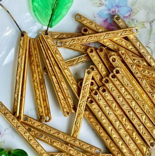 Victorian Miriam Haskell Bar Connectors, Russian Gold plated