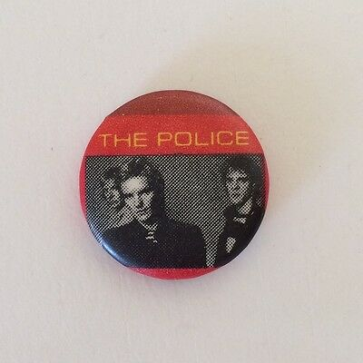 RARE Vintage early 80s THE POLICE band pinback button Sting pin badge new wave