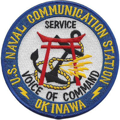 US NAVAL COMMUNICATION STATION OKINAWA, JAPAN MILITARY PATCH - VOICE OF COMMAND