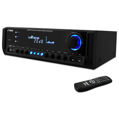 Pyle PT390AU Digital Home Theater Stereo Receiver Aux-In MP3 USB AM/FM Radio