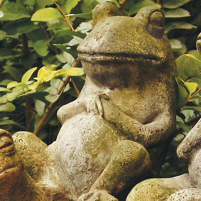 Frog Garden Statue Sculpture by Orlandi Statuary Available in 13 Finishes
