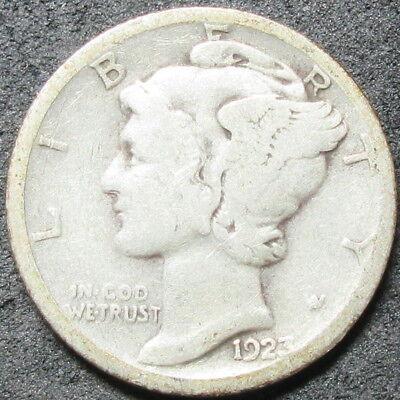 1923-S MERCURY DIME COIN