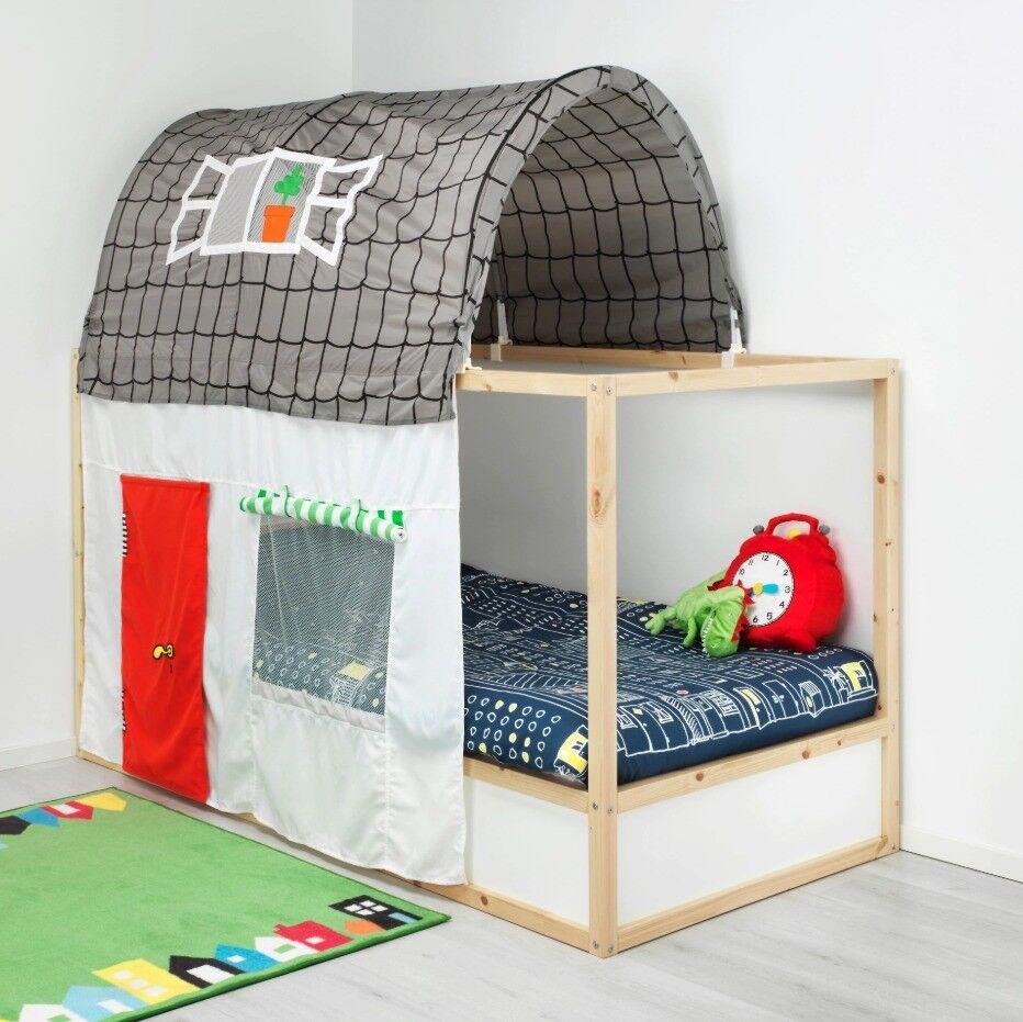 ikea kura - kids convertible cabin / loft / mid-sleeper bed frame