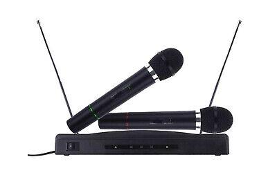 Kit coppia microfoni wireless base ricevitore professionale karaoke festa 009-4