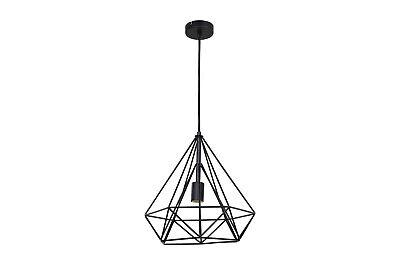 Lampadario industriale retro vintage soffitto pendente forma diamante E27