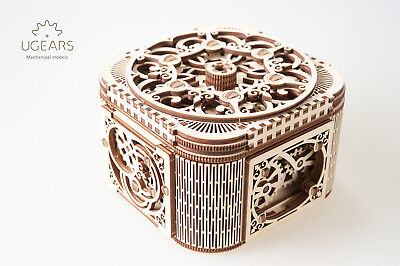 UGears Treasure Box 3D Wooden Puzzle Self-Assembling Mechanical Model for Teens