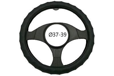 Coprivolante auto nero ondulato 37-39cm copristerzo antiscivolo ergonomico R0581