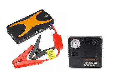 Caricabatterie auto portatile compressore emergenza jump starter avviatore tmd28