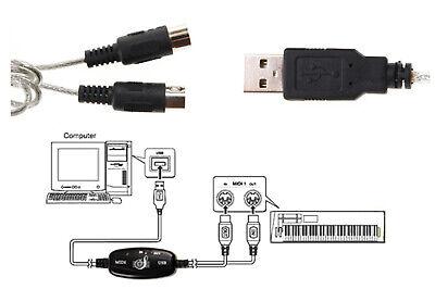 Cavo da usb a interfeccia midi adattatore bidirezionale in out pc audio tastiera