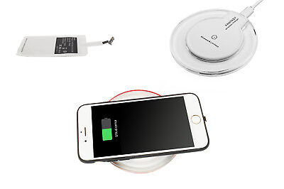 Caricatore wireless Qi caricabatterie base ricarica rapida induzione iPhone
