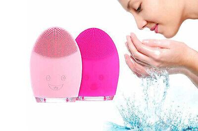 Spazzola detergente viso ricaricabile in silicone massaggiatore vibrante 025