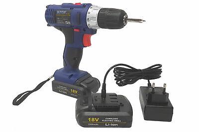 Taladro Destornillador Eléctrico sin Cable 2 Batería Recargable R18V 2500MAH