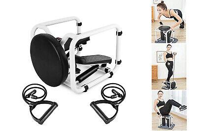 Mini stepper multifunzione ellittica con bande elastiche display seduta fitness