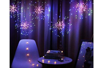 Rami natalizi decorativi luce rossa verde fuochi d'artificio led 3M esterno