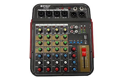 Consolle mixer audio professionale 6 canali usb karaoke mic/line mp3 F6-BT