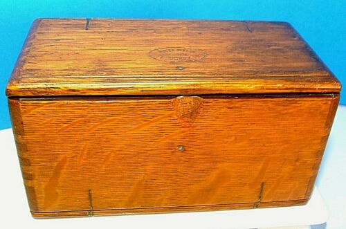 Antique PUZZLE BOX ~1889 FEBRUARY 19~ Singer Sewing Machine Attachments Tools