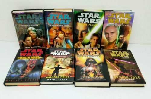 Lot of 8 STAR WARS Hardcover Books with 1st Eds DelRey UNREAD Nr-Mt/Mt