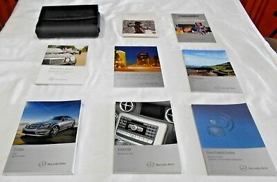2012 MERCEDES C250, C350, C63 AMG OWNER MANUAL 6/PC+1 CD+NAVI.+VOICE SET & CASE