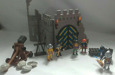 PLAYMOBIL3030 Knights tower / ruined castle with catapult & knights - incomplete