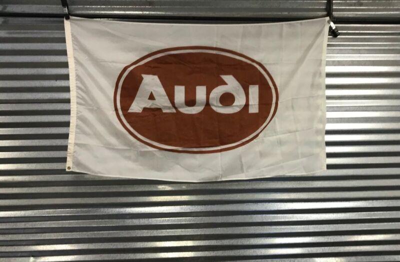 Vintage Audi Dealer Flag 1980's Urquattro Rare