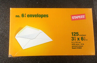 White Wove Envelopes Letter Mailing 3-58 X 6-12 Inch 125 Count 6-34