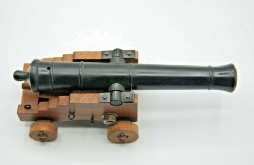 VINTAGE 7.5 INCH CANNON - MARKED SPAIN AND BLACK POWDER ONLY - VERY NICE ++++