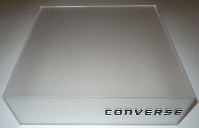 Converse Retail Shoe Display Platform Box Plastic Clear Frosted Store Fixture
