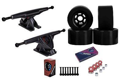 """Cal 7 Longboard Flywheel 10.75"""" Axle Truck Bearing 90mm Black Skateboard Wheels"""