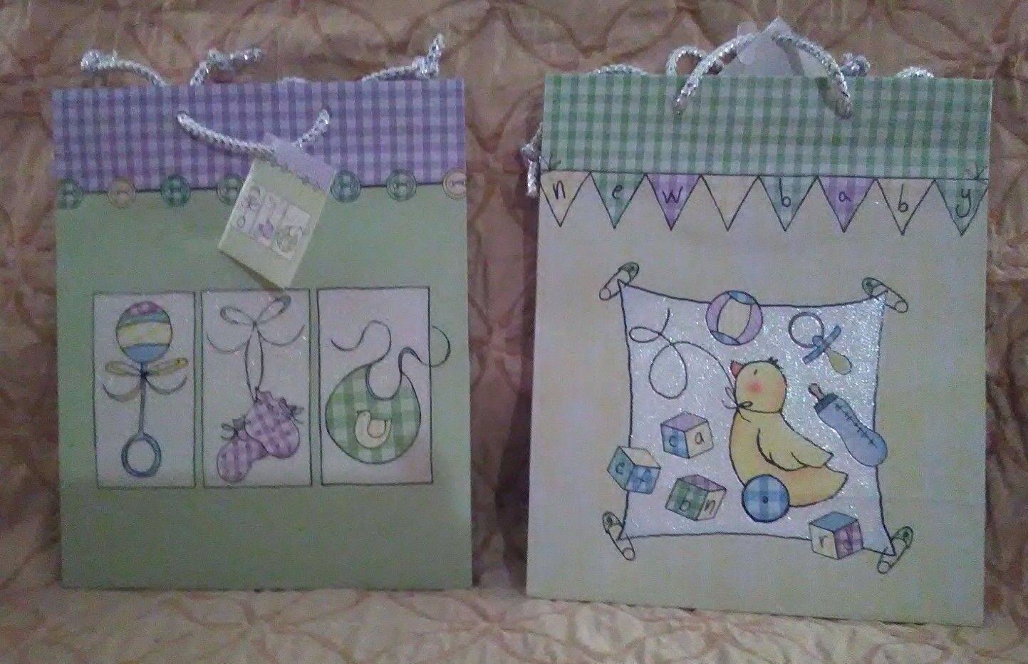Baby Birthday and Baby Shower Gift Bag Set of 2
