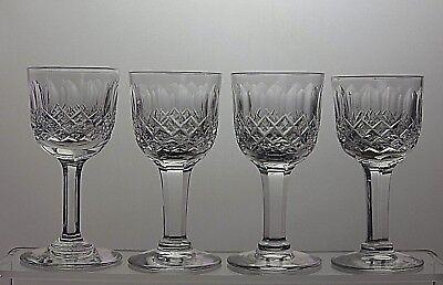 "THOMAS WEBB CRYSTAL ""NORMANDY"" CUT LIQUEUR GLASSES SET OF 4"