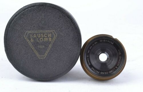 Bausch & Lomb Zeiss Protar Series IV 4 x 5 Brass Lens w/ Case  #MAP48132