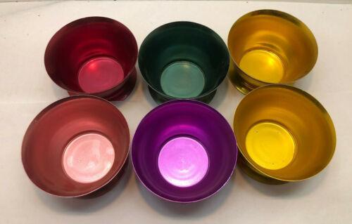 Vintage Bascal Aluminum Colored Bowls - set of 6