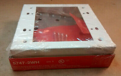 Legrand Wiremold 5747-2wh Shallow Switch Receptacle Box White 2 Gang 1-38
