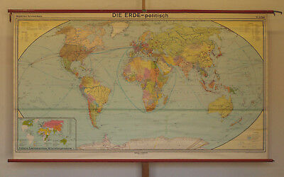 Wall Map Beautiful Old Political World Map 246x142cm Vintage World Map 1980 1992